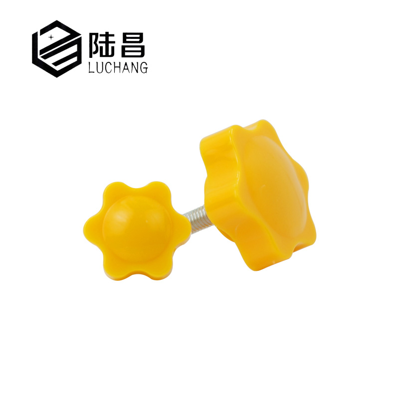 luchang 5pcs M6 Female Thread Star Shaped Clamping Nuts Knob For Industry Equipment Plastic Carbon Steel 25#mm Head diameter 5pcs m6 x 40mm female thread clamping knobs 6mm thread 40mm head dia 7 star shaped through hole clamping nuts knob