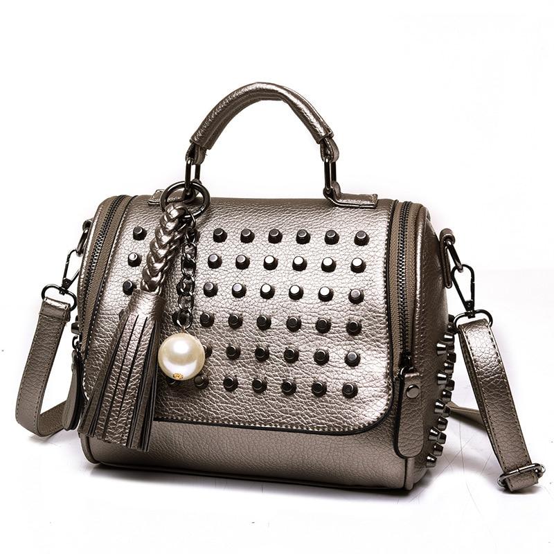 Zhierna Новинка 2017 года корейская модная женская сумка улица прилив Crossbody сумки тренд двойной тянуть жемчужные украшения сумки