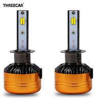 Auto Car Tricolor 3 Color LED Headlight Z5 H1 H4 H7 H11 HB3 HB4 50W 5800LM