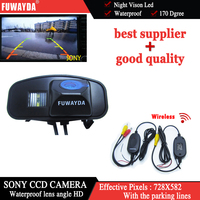 Wireless SONY CCD Chip Car Rear View With Guide Line DVD GPS Navigation Kits CAMERA For