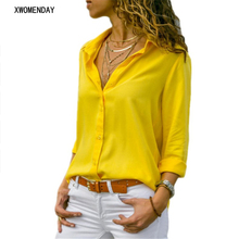 Work Wear White Blouse Tops Plus Size Long Sleeve V-Neck Formal Elegant Ladies Shirts 2019 Spring Summer Chiffon Office Blouse