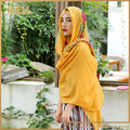 New fancy work embroidery cotton and linen colorful oversized hijab wrap scarf