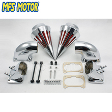 Freeshipping Motorcycle Spike Air Cleaner Intake Filter Kit For Suzuki Boulevard M109 Chrome