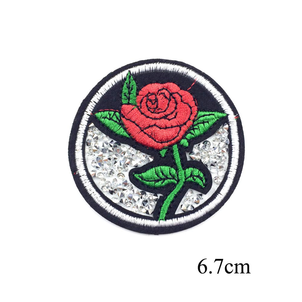 Hat DIY Sew on Patches for Clothes Bag 4pcs Embroidered Iron on