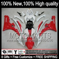Body Body For YAMAHA YZFR6 06 07 YZF 600 YZF R 6 Red White YZF600 JK9610