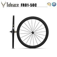Клинчер и бескамерный супер свет 700C 50 мм клинчер для велосипеда колесная UD Углеродные дорожные колеса 50C с ступицами Novatec Powerway 271
