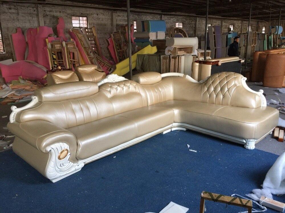 Aliexpress Amerikanischen Ledercouchgarnitur Wohnzimmer Sofa China L Form Ecksofa Holzrahmen Von Verlsslichen Wood Frame Lieferanten Auf My