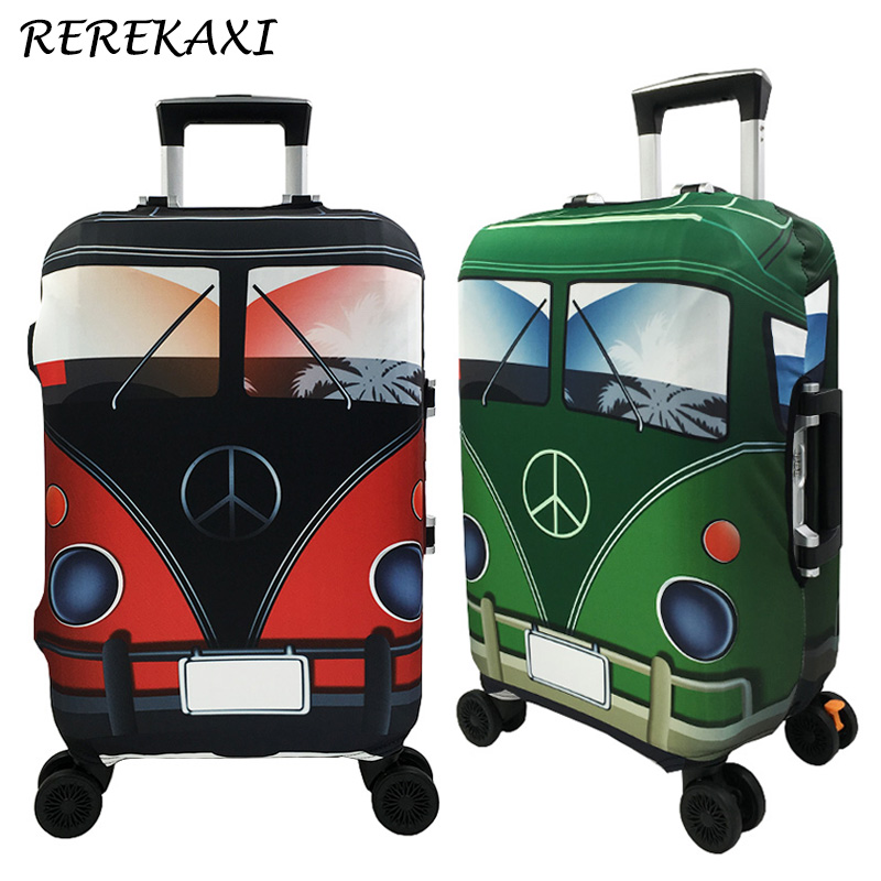 REREKAXI Travel Suitcase Elastic Luggage Cover 18-32 Inch Trolley Dust Covers Baggage Protection Case Cover Travel Accessories