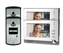 Envío libre de DHL 7 LCD porteros electricos con camaras Vision video de la puerta teléfono porteros electricos con camaras, porteiro eletronico