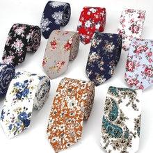 Брендовые Новые хлопковые мужские галстуки с принтом пейсли для шеи, узкий галстук, узкие галстуки с цветочным принтом