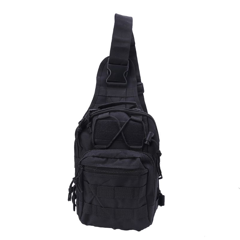 1 Pc Mens Molle Tactical Sling Chest Bag Assault Pack Messenger Shoulder Bag Backpack in Climbing Bags from Sports Entertainment
