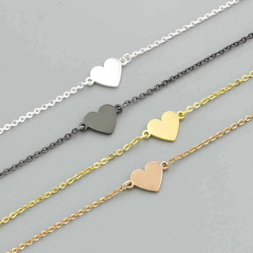 New Fashion Heart Bracelet Delicate Simple Gold Bracelet Women Gift For Your Lover Stainless Steel Material High Quality Jewelry