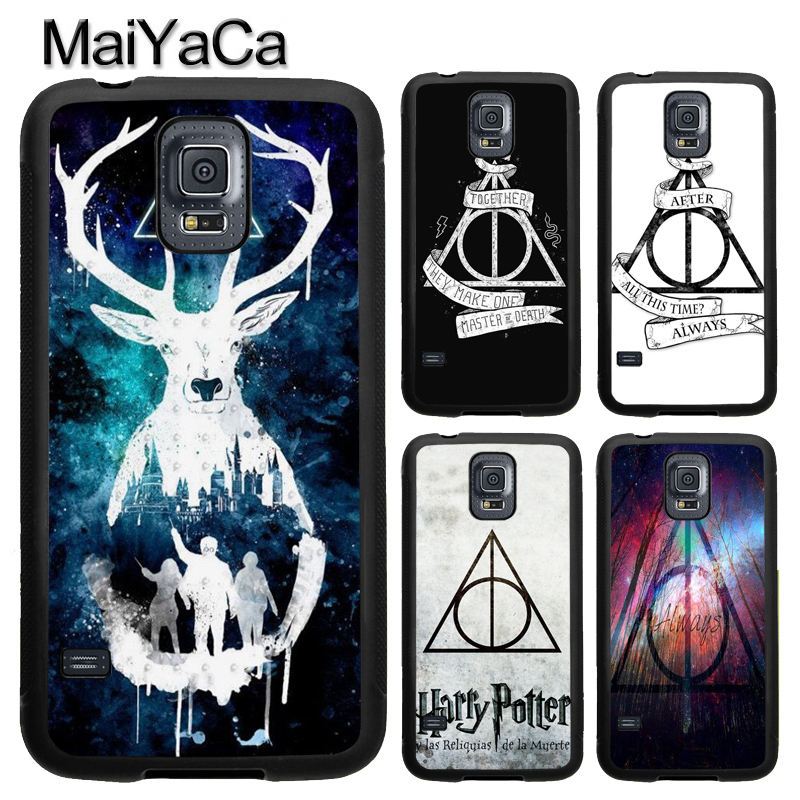 MaiYaCa Harry Potter Deathly Hallows TPU Case For Samsung Galaxy S9 S8 Plus S4 S5 S6 S7 Edge Note 4 5 Note 8 Cover Back Case