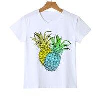 Hot Print Pineapple Ananas Kids/Boys/Girls T shirt Short Sleeve O-neck Summer tee Casual Children's T-shirt Tops Z29-1