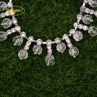 (1 yardas) moldeado nupcial al por mayor Costura oro rosa de cristal rhinestone del ajuste del applique para la correa del marco del vestido de boda