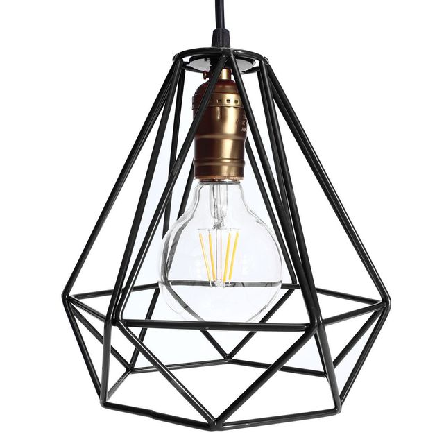 Online shop new lamp cover loft industrial edison metal wire frame new lamp cover loft industrial edison metal wire frame ceiling pendant hanging light lamp lampshade modern cage fixture greentooth Images