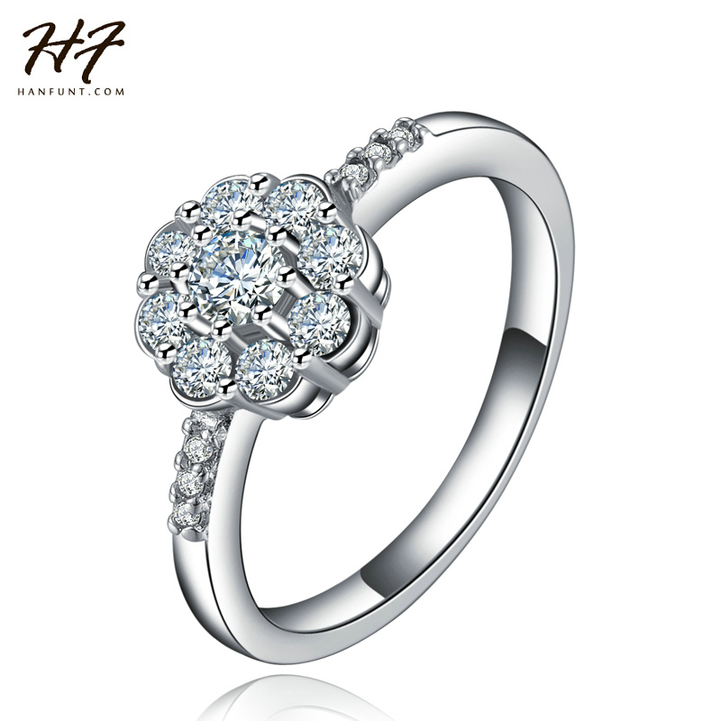 18 К Белый Позолоченный Bijoux Мода Свадьба & Обручальное Кольцо AAA CZ Ювелирные Изделия с бриллиантами Для Женщин, Как Aniversray Подарок R539