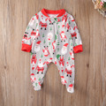 Christmas Newborn Kids Infant Baby Girls  Jumpsuit Clothes Outfit