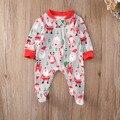 Natal Recém-nascidos Crianças Infantil Bebê Meninas Jumpsuit Roupas Outfit