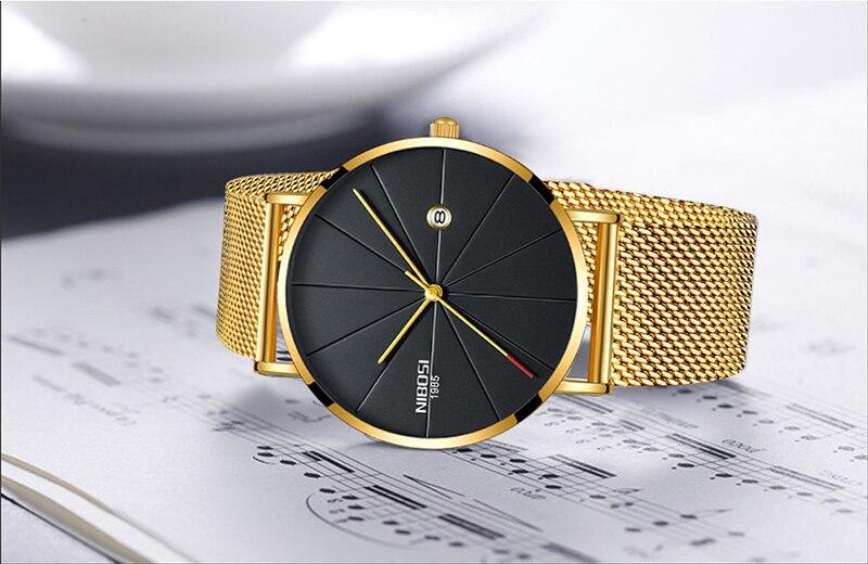 NIBOSI Mens Watch Top Ultra Thin Blue Minimalist Men Watches Stainless Steel Man Wrist Watches reloj hombre 2019 (12)