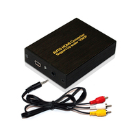 Mini AV Composite Video Audio RCA CVBS to HDMI Black Converter Box with Power Adapter Upscaler supports HDTV, HD1080p