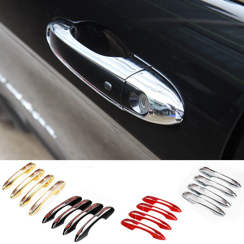 MOPAI ABS Car Exterior Accessories Side Door Handle Decoration Cover Trim Stickers For Jeep Cherokee 2014 Up Car Styling abs exterior decoration car body door side molding trim styling for jeep renegade 2015 up