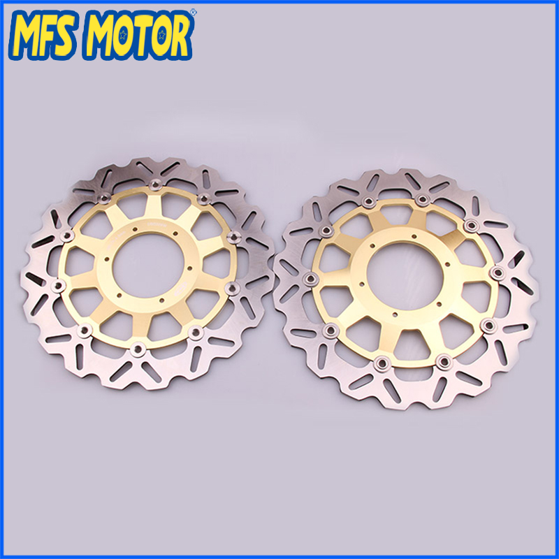New Front Brake Discs Rotor For Honda CBR900RR 954 929  2000 2001 2002 2003  00 01 02 03 Motorcycle Part GOLD COLOR mfs motor motorcycle part front rear brake discs rotor for yamaha yzf r6 2003 2004 2005 yzfr6 03 04 05 gold