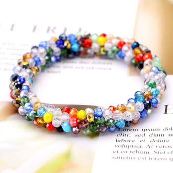 Vintage Multilayer Wrap Bracelets For Women Charm Handmade Bracelets With Colorful Crystal Beads Fit Pan Bracelets Jewelry