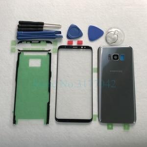 Image 4 - Panel táctil frontal para Samsung Galaxy S8 Plus, G955F, S8, G950, G950F, lente exterior + batería trasera, cubierta trasera de cristal