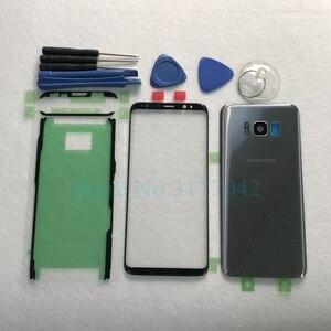 Image 4 - Для Samsung Galaxy S8 Plus S8 + G955F S8 G950 G950F Передняя Сенсорная панель Внешний объектив + задняя крышка батарейного отсека задняя стеклянная крышка корпуса