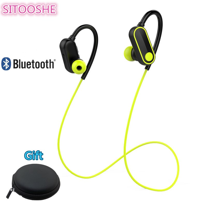 SITOOSHE Sports Bluetooth Earphone Sweat Proof Magnetic Earpiece Stereo Wireless Headset for Mobile Phone for iphone