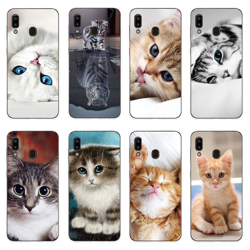 Cute Pet Cat Patterned Samsung Galaxy A90 Cover