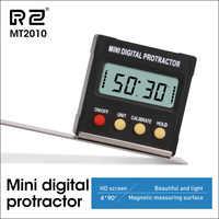 RZ ángulo Protractor Universal biselado 360 grados Mini electrónico Digital Protractor inclinómetro probador herramientas de medición MT2010