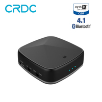 CRDC Wireless Bluetooth Transmitter Receiver A2DP Audio Player Optical Fiber coaxial Stereo Audio 3.5mm AUX For TV PC Speaker