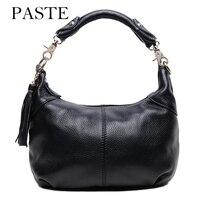 2017 Brand New 100 Real Leather Women Hobos Bag Soft Cowhide Female Shoulder Bag With Tassel