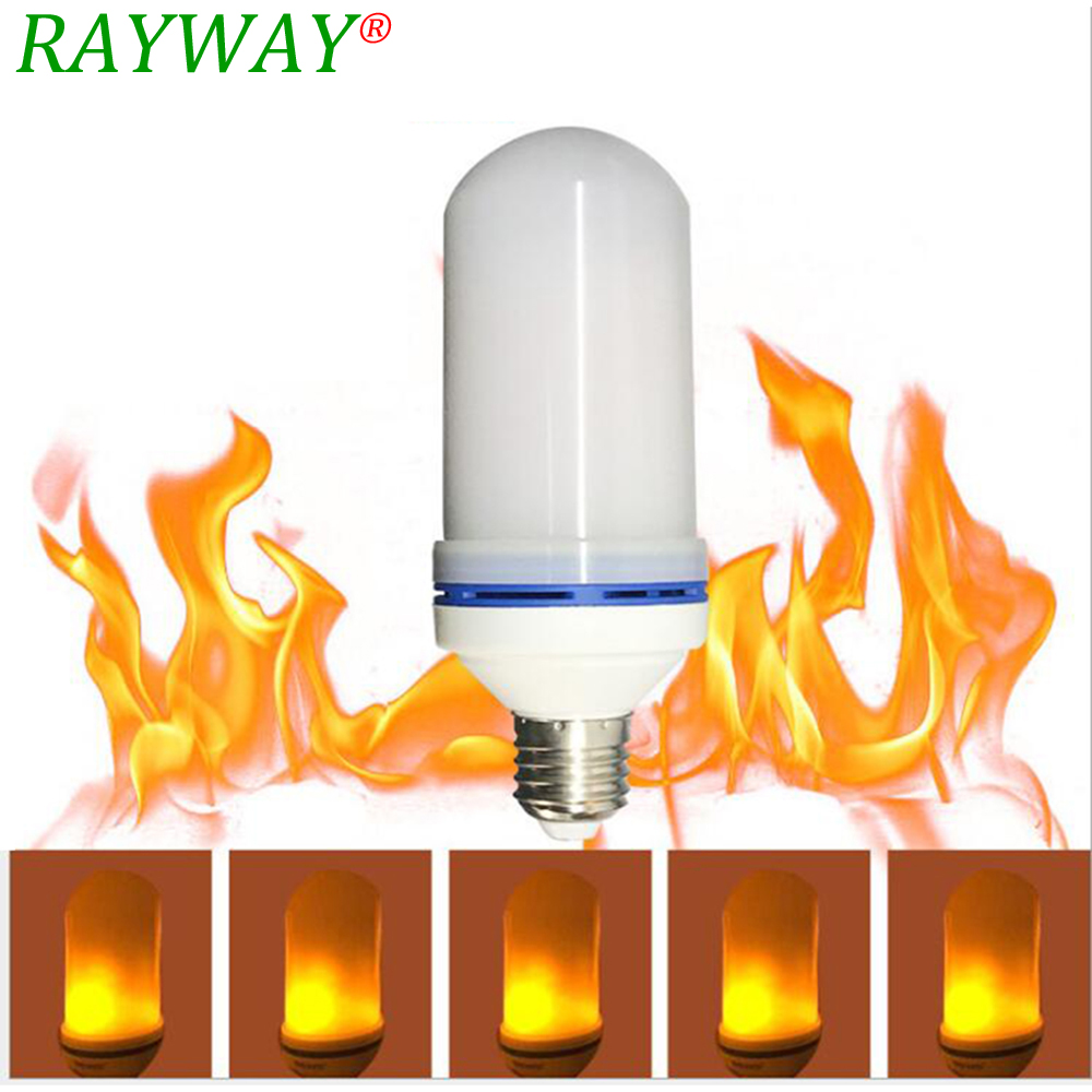 Rayway Led Flame Effect Light Bulb E27 7w Led Simulated