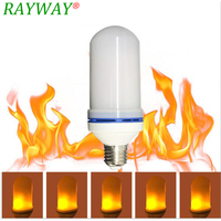 RAYWAY LED Flame Effect Light Bulb E27 7W LED Simulated Flickering Vintage Flame Bulb Lamps Xmas