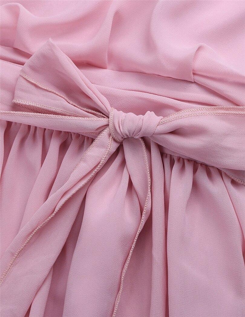 Image 5 - Женское платье без рукавов TiaoBug, длинное шифоновое платье с лямкой на шее для свадебной вечеринкиchiffon bridesmaid dressbridesmaid dresseslong wedding party dresses  АлиЭкспресс