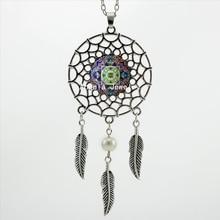 2017 Trendy Style The Star of David Mandala Pendant Mandala Art Jewelry Silver Dreamcatcher Necklace DC-00314
