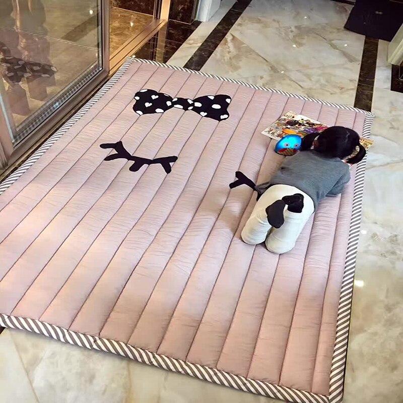 Infantile brillant 140X195 CM tapis de jeu 2 CM épaisseur bébé tapis de jeu dessin animé salon tapis antidérapant enfants chambre tapis lavable en Machine - 2