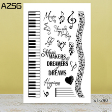 AZSG Musical Note Piano Clear Stamps/Seals For DIY Scrapbooking/Card Making/Album Decorative Silicone Stamp Crafts