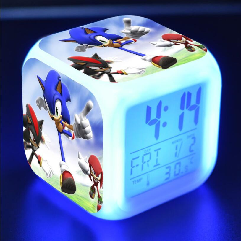 Sonic The Hedgehog LED Cube Alarm Clock 6