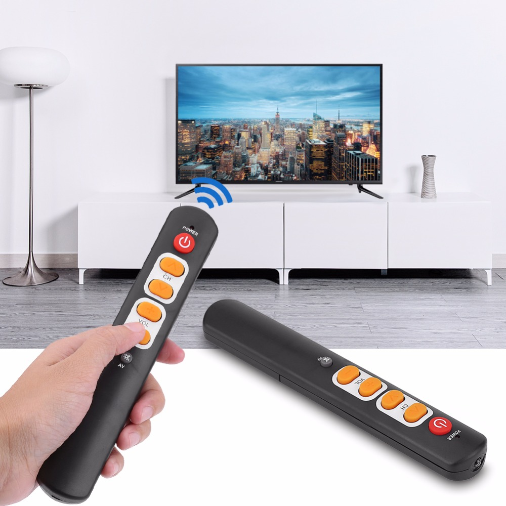 Universal Learning Remote Control with Big Buttons Smart Controller for TV STB DVD DVB HIFI VCR