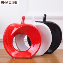 Express shipping free for creative home accessories,ceramic crafts ornaments ,wedding gift and ceramic apple.