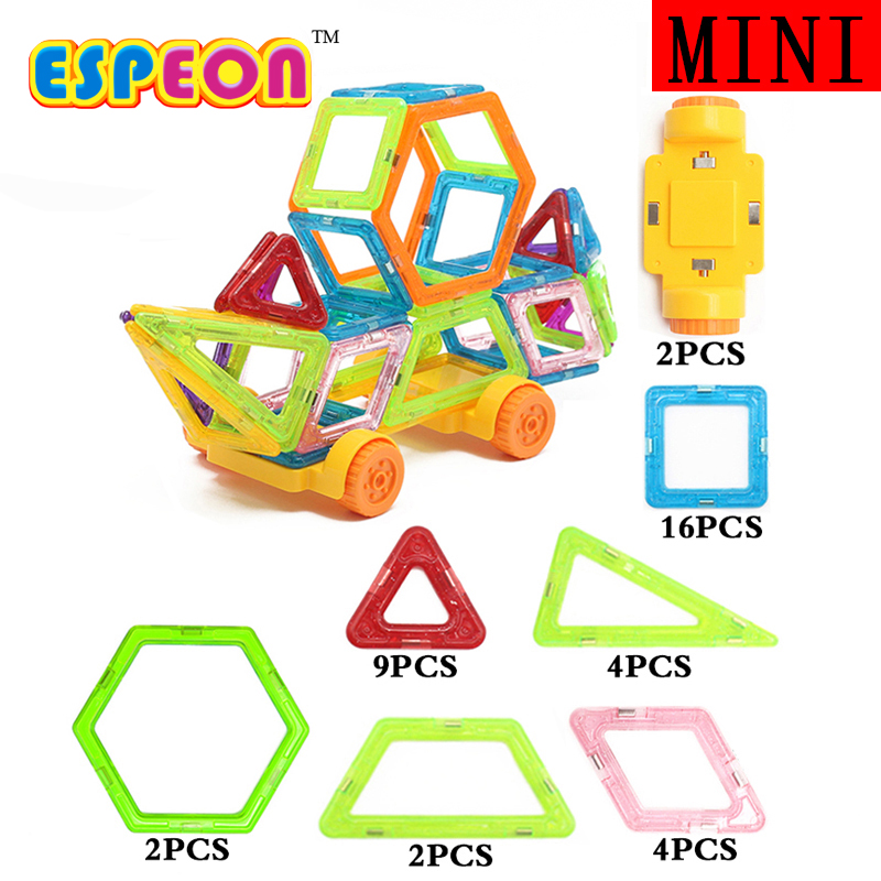 39PCs Enlighten Educational Magnetic Building Blocks Construction Early Learning Bricks Toys for Children Christmas Gift minitudou 100pcs snow snowflake building blocks toy bricks diy assembling early educational learning classic toys kids gift