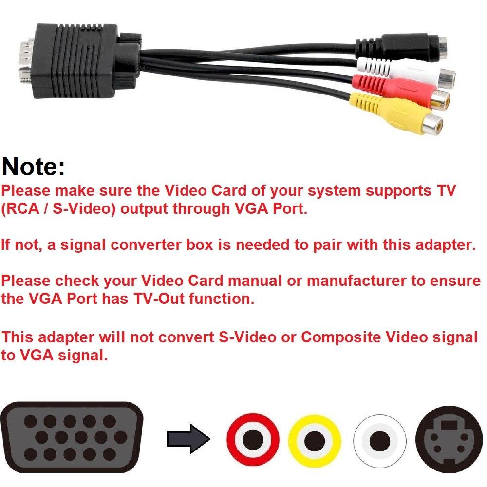VGA to TV S-Video 3 RCA (2)