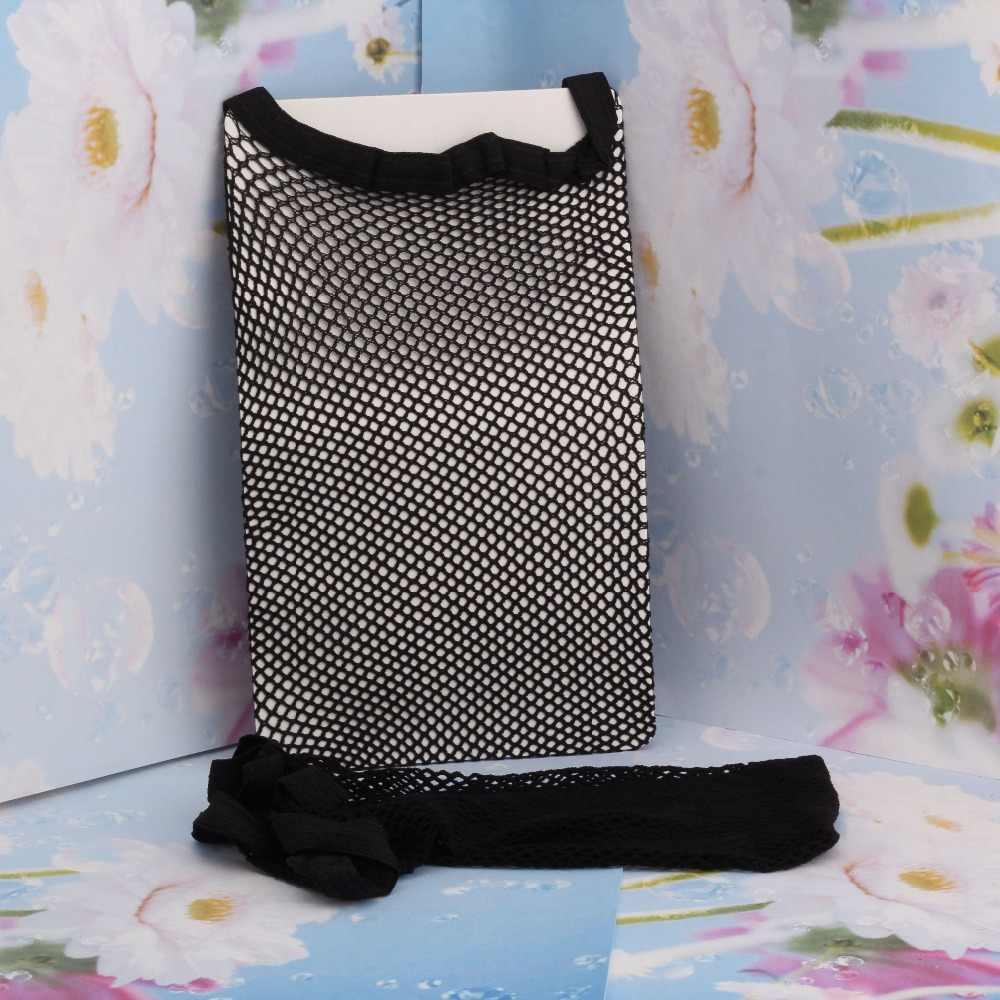 1 قطعة أسود اللون ديلوكس سقف مستعار مرونة عالية نسيج الشبكة كاب قابل للتعديل تمتد Hairnets عقال
