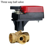 control motorized valve 2 way 3 way proportional electric ball valve for 24V DN25 DN40