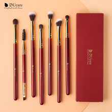 DUcare Brushes for Makeup 6/7PCS Eyeshadow Eyebrow Blending Eye Brush Pony Hair Professional Cosmetic Tools Kit