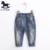 2016 bebés meninos meninas Jeans crianças calças buracos quebrados calças marca moda primavera e verão 2-10Y crianças calças roupa das crianças
